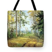 The Road Into The Forest Tote Bag