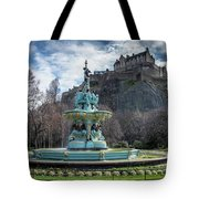 The Ross Fountain And Edinburgh Castle Tote Bag by Ross G Strachan