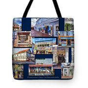 The Shops Of Provincetown Cape Cod Massachusetts Collage Pa Tote Bag