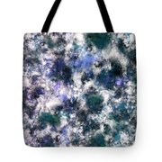 The Silent Blue Decay Tote Bag