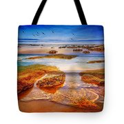The Silent Morning Tide Tote Bag
