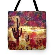 The Sonoran Saguaro  Tote Bag