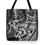 The Telegraph And Glass Insulators Black And White Tote Bag