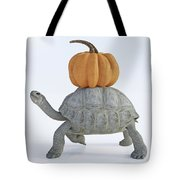 The Tortoise And The Pumpkin Tote Bag