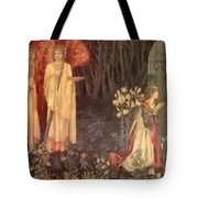 The Vision Of The Holy Grail To Sir Galahad Sir Bors And Sir Perceval Tote Bag