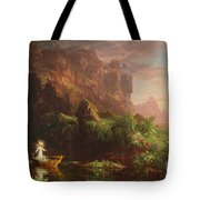 The Voyage Of Life Childhood, 1842 Tote Bag