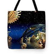The Wickers-... Out For A  Midnight Swim... Tote Bag
