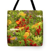 The World Laughs In Flowers - Poppies Tote Bag