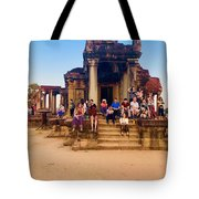 They Come To See Angkor Wat, Siem Reap, Cambodia Tote Bag