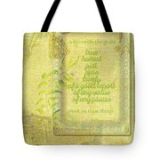 Things To Think About Tote Bag
