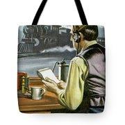 Thomas Edison, The Railway Telegraphist  Tote Bag