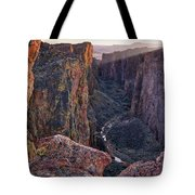 Thousand Creek Gorge Tote Bag by Leland D Howard