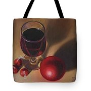 Three Kisses And A Glass Of Port Tote Bag by Joe Winkler