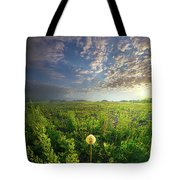 Through Strength Of Faith Tote Bag