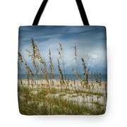 Through The Sea Oats Tote Bag by Judy Hall-Folde