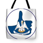 Thumbs Up Louisiana Tote Bag