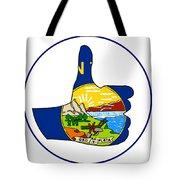 Thumbs Up Montana Tote Bag