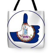 Thumbs Up Virginia Tote Bag