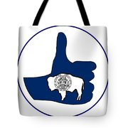Thumbs Up Wyoming Tote Bag