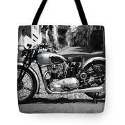Tiger T100 Vintage Motorcycle Tote Bag