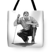 Tiger Woods Crouching Tiger Tote Bag