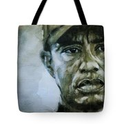 Tiger Woods - On The Road Again  Tote Bag