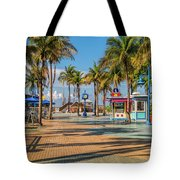 Times Square In Fort Myers Beach Florida Tote Bag