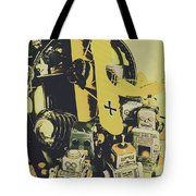 Tin Sign Toys Tote Bag