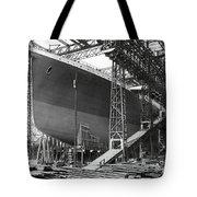 Titanic In Belfast Dry Dock 1911 Tote Bag