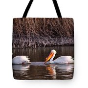 To Pelicans Trolling For Fish Tote Bag