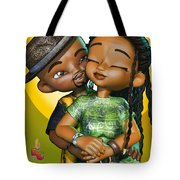 Toon Couple In Love Tote Bag