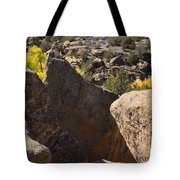 Top Of Rocks Above Canyon In Fall Tote Bag