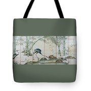 Top Quality Art - Cranes Pines And Bamboo Tote Bag