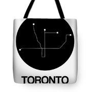 Toronto Black Subway Map Tote Bag