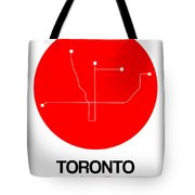 Toronto Red Subway Map Tote Bag