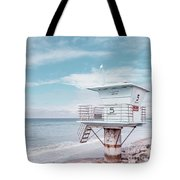 Torrey Pines Beach Lightguard Station Number 5 Tote Bag by Wendy Fielding