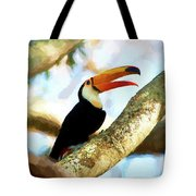 Toucan On A Tree Tote Bag