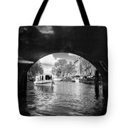 Tourboat On Amsterdam Canal Tote Bag