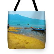 Tourists In Lang Co 2 - Hue, Vietnam Tote Bag
