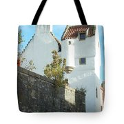 towerhouse and turret at Culross Tote Bag