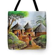 Traditional Village Tote Bag