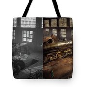 Train - Repair - Third Door On The Right 1942 - Side By Side Tote Bag