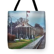 Train Tracks To Old Town Tote Bag