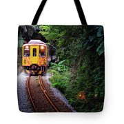 Train With Tunnel Of Pingxi Line, Taiwan Tote Bag
