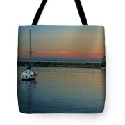 Trawler And A Yacht Tote Bag