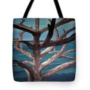 Tree And Beach Tote Bag