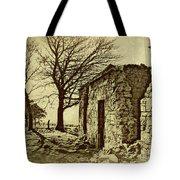 Tree And Ruins Tote Bag