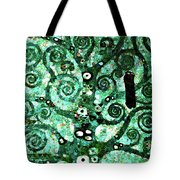 Tree Of Life Abstract Expressionism Tote Bag