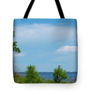 Trees By The Water Tote Bag