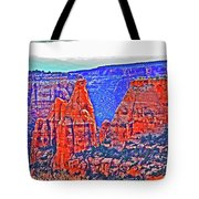 Trees Plateau Valley Color 2871ado National Monument  Tote Bag
